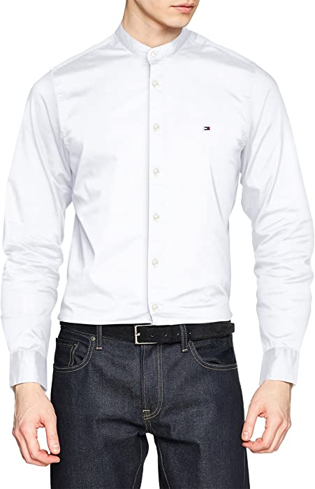 Tommy Hilfiger Slim Stretch Mandarin Shirt 3b77f9e09ab