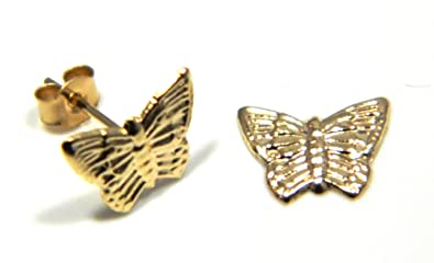 Arranview Jewellery Butterfly Stud Earring - 9ct Gold hvVrds