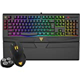 GAMDIAS ARES 7 Color Backlit RGB Membrane Gaming Combo with (OTF) macro recording, & OUREA Optical Mouse 4000 DPI, weight tuning system (GKC6011)