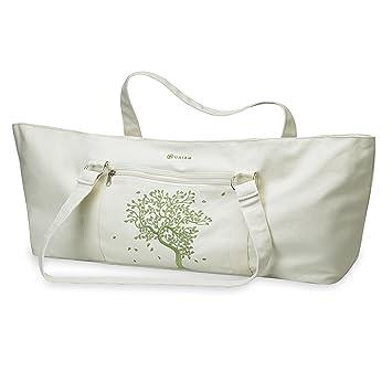 Gaiam 05-52506 - Bolsa para colchoneta de yoga (algodón), color beige