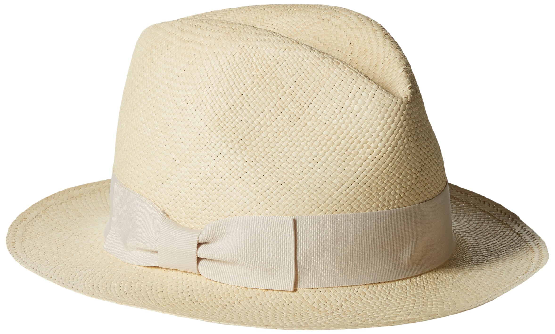 Hat Attack Women's Original Panama Hat with Classic Bow Trim, Natural, One Size