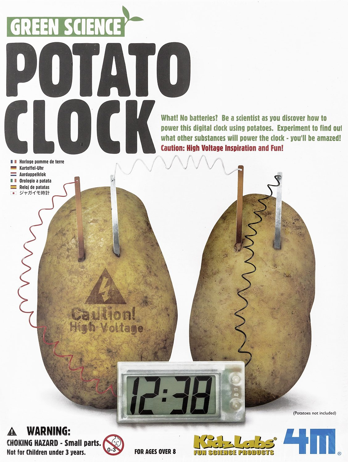 Amazon.com: Toysmith Maven Gifts: 4M Enviro Battery and 4M Potato Clock Set: Toys & Games