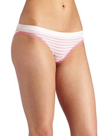 fc57a8038c9 Calvin Klein Women s Seamless with Lace Bikini Panty at Amazon Women s  Clothing store  Bikini Underwear