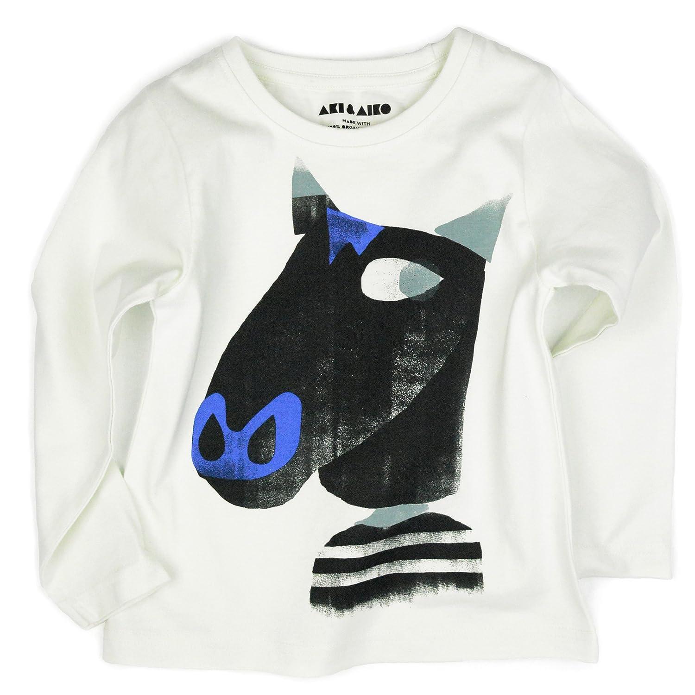 AKI & AIKO Organic Cotton Milton Full Sleeve Kids T-Shirt (2-7T)