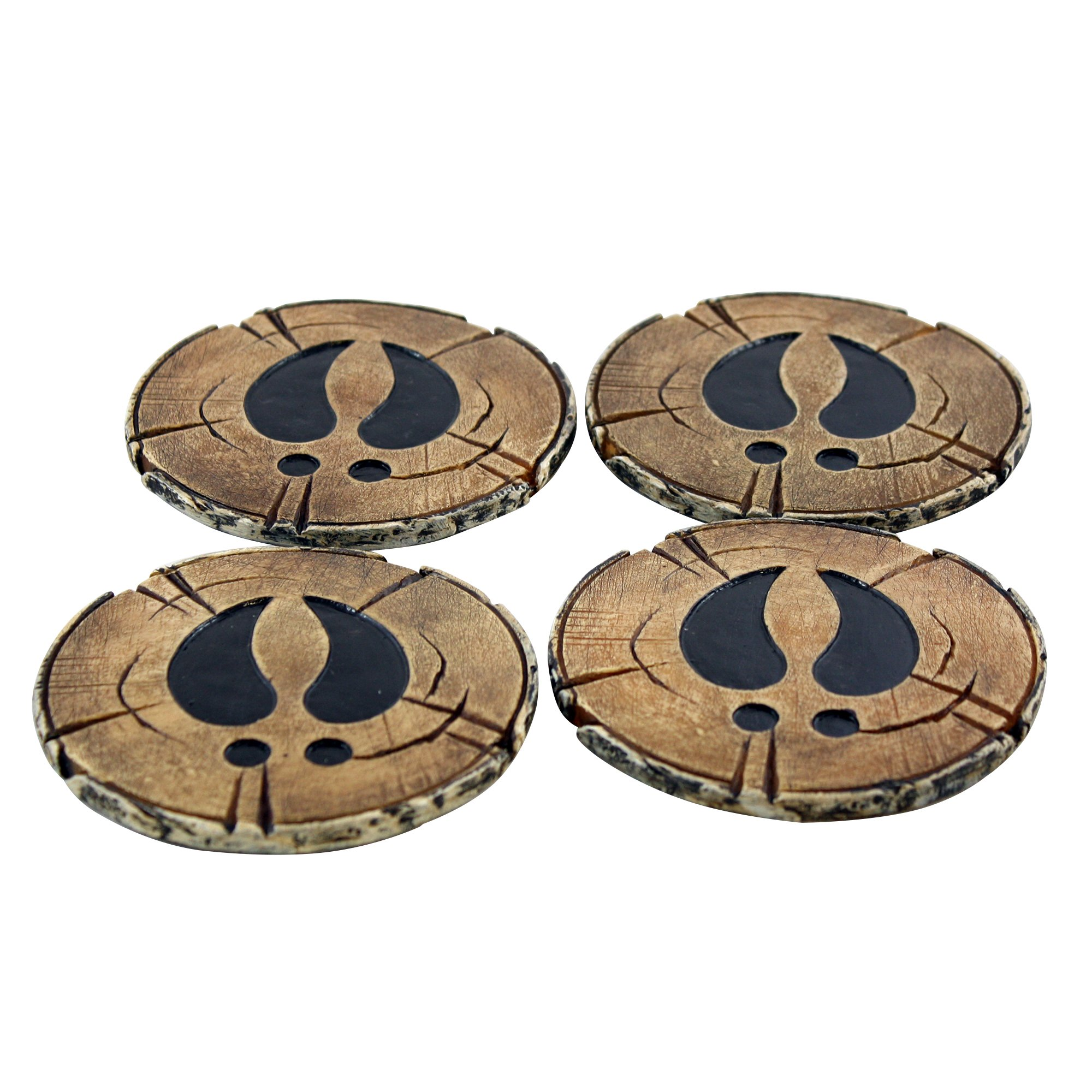 Pine Ridge Old West Deer Antler Drink Coasters Set Of 4 - Home Table Beverage Coaster With Holder - Drink Glass Holder With Outdoors Rustic Cabin Theme Decor by Pine Ridge (Image #8)