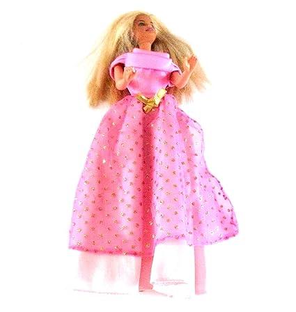Barbie® - Mattel - Muñeca Rubio - En largas vestido con oro ...
