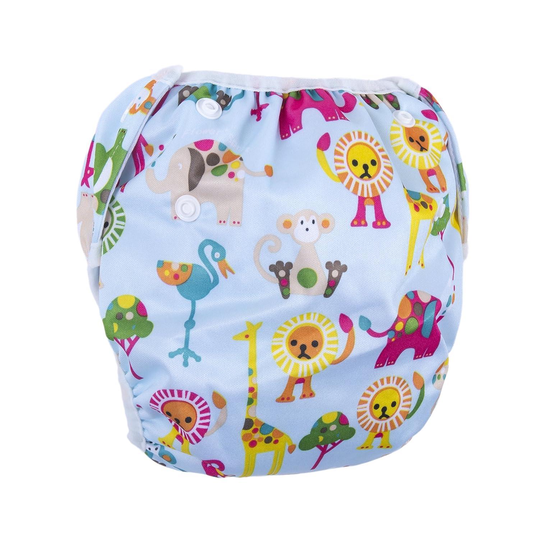 BIG ELEPHANT Unisex Baby Reusable Adjustable Swim Diaper Swim Underwear T92