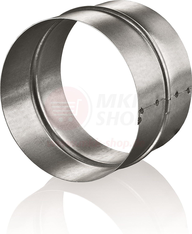 /Ø 150mm Rohrverbinder f/ür L/üftungsrohr Abluftrohr aus verzinktem Stahl Abluftkanal mit R/ückschlagklappe
