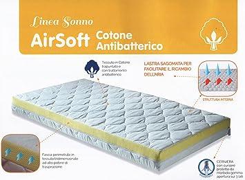 QuestiBimbi® - Colchón para cuna, con Airsoft, de algodón antibacteriano, 60 x 120 x 10 cm: Amazon.es: Hogar