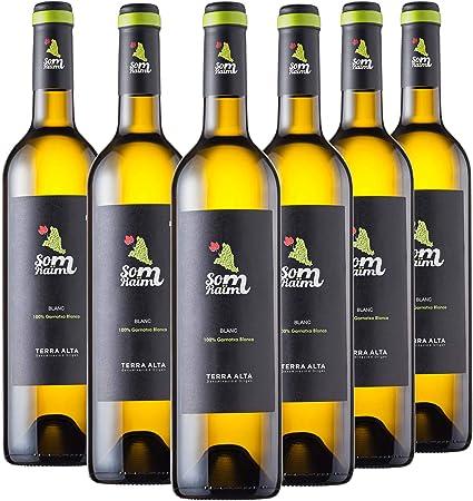 VINO BLANCO - SOM RAÏM BLANC - MONOVARIETAL GARNACHA BLANCA - DO TERRA ALTA - PACK 6 BOTELLAS 75 CL.: Amazon.es: Alimentación y bebidas