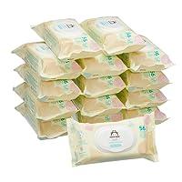 Marca Amazon - Mama Bear Soft Toallitas húmedas para bebé - 15 Paquetes (840 Toallitas