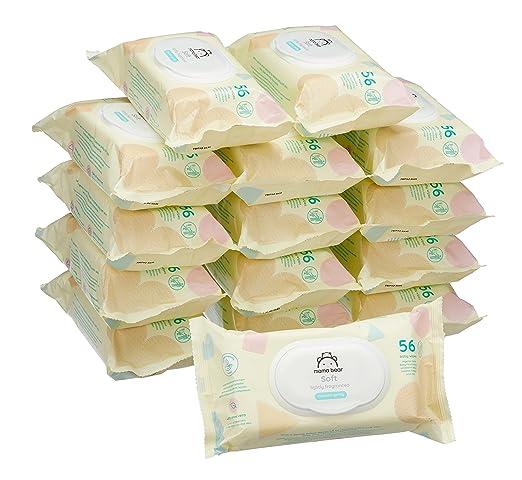 150 opinioni per Marchio Amazon- Mama Bear Soft Salviette umidificate per bebè- 15 confezioni x