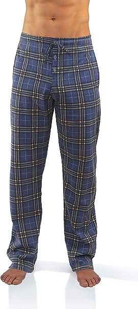 Sesto Senso Pantalones Largos de Pijama Hombre Algodón Pantalón de Dormir Cuadros Estampado Escocés: Amazon.es: Ropa y accesorios