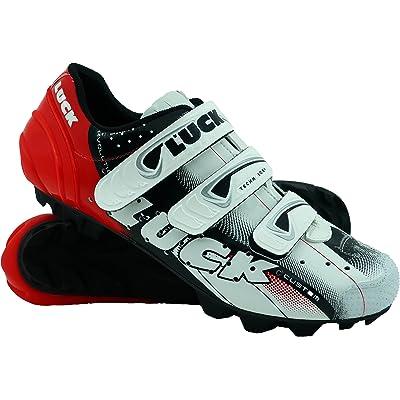 Luck Zapatillas de Ciclismo Extreme 3.0 MTB,con Suela de Carbono y Triple Tira de Velcro de sujeción ademas de Puntera de Refuerzo.