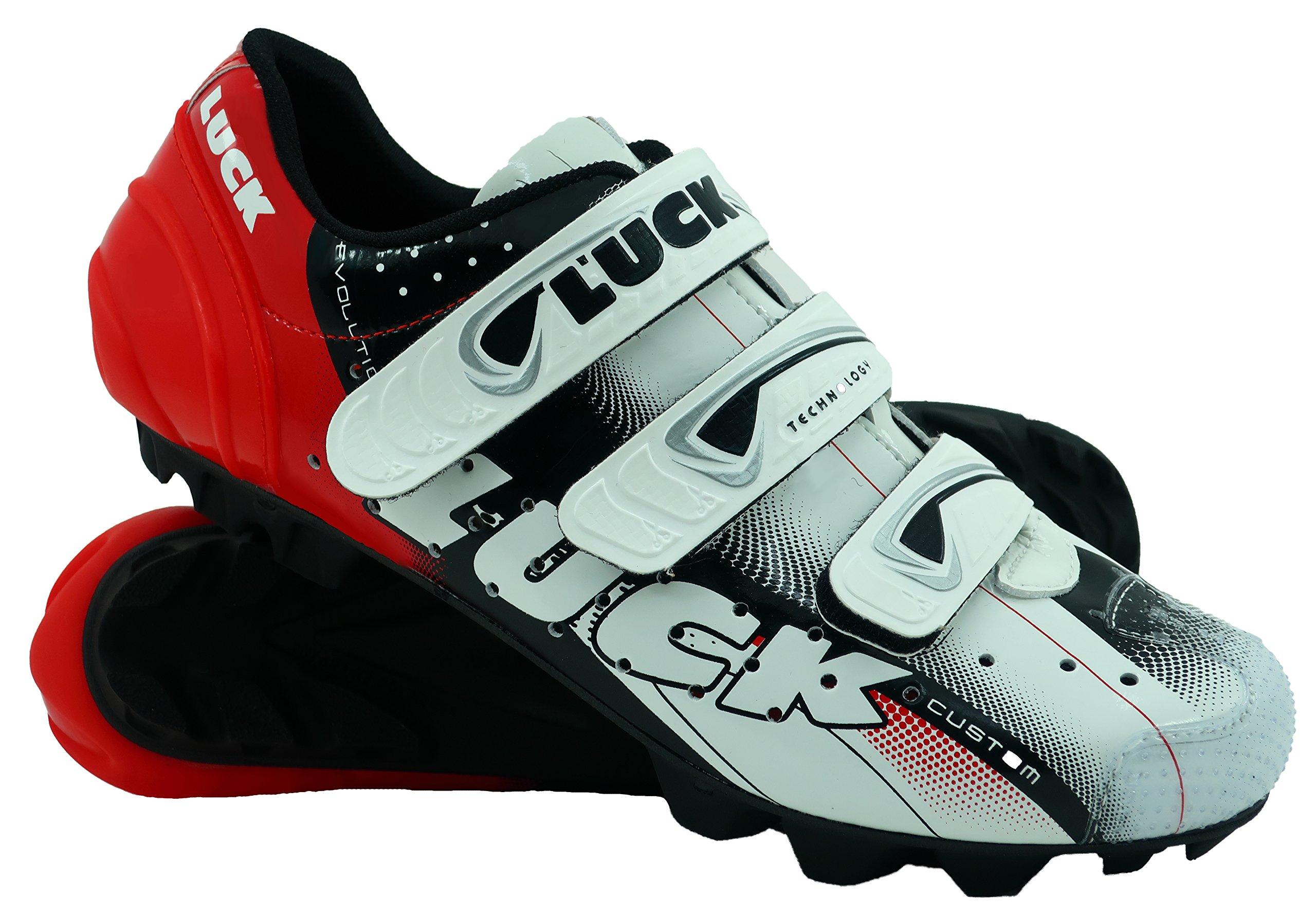 Zapatillas de Ciclismo LUCK Extreme 3.0 MTB,con Suela de Carbono y Triple Tira de Velcro de sujeción ademas de Puntera de Refuerzo.