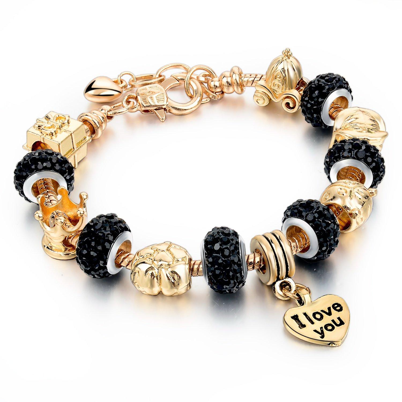 Amazon: Long Way Gold Plated Snake Chain Glass Beads