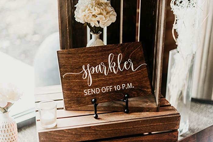 Amazon.com: Sparkler Send Off Wedding Sign, Wedding Signs, Let Love ...
