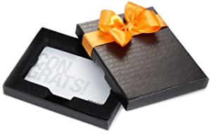 Amazon.com Gift Card in a Black Gift Box (Congrats White Card Design)