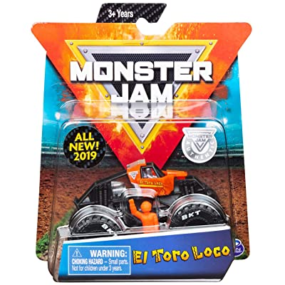 Monster Jam 2020 Training Trucks El Toro Loco 1:64 Scale Diecast Monster Truck with Figure and Poster by Spin Master: Toys & Games