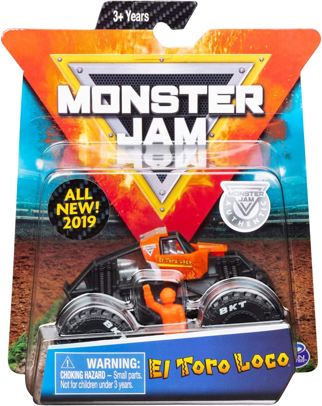 Monster Jam 2019 Training Trucks El Toro Loco 1:64 Scale Diecast Monster Truck with Figure and Poster by Spin Master