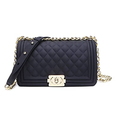 Classic Silicon Quilted Crossbody Bag Luxury Shoulder Handbags