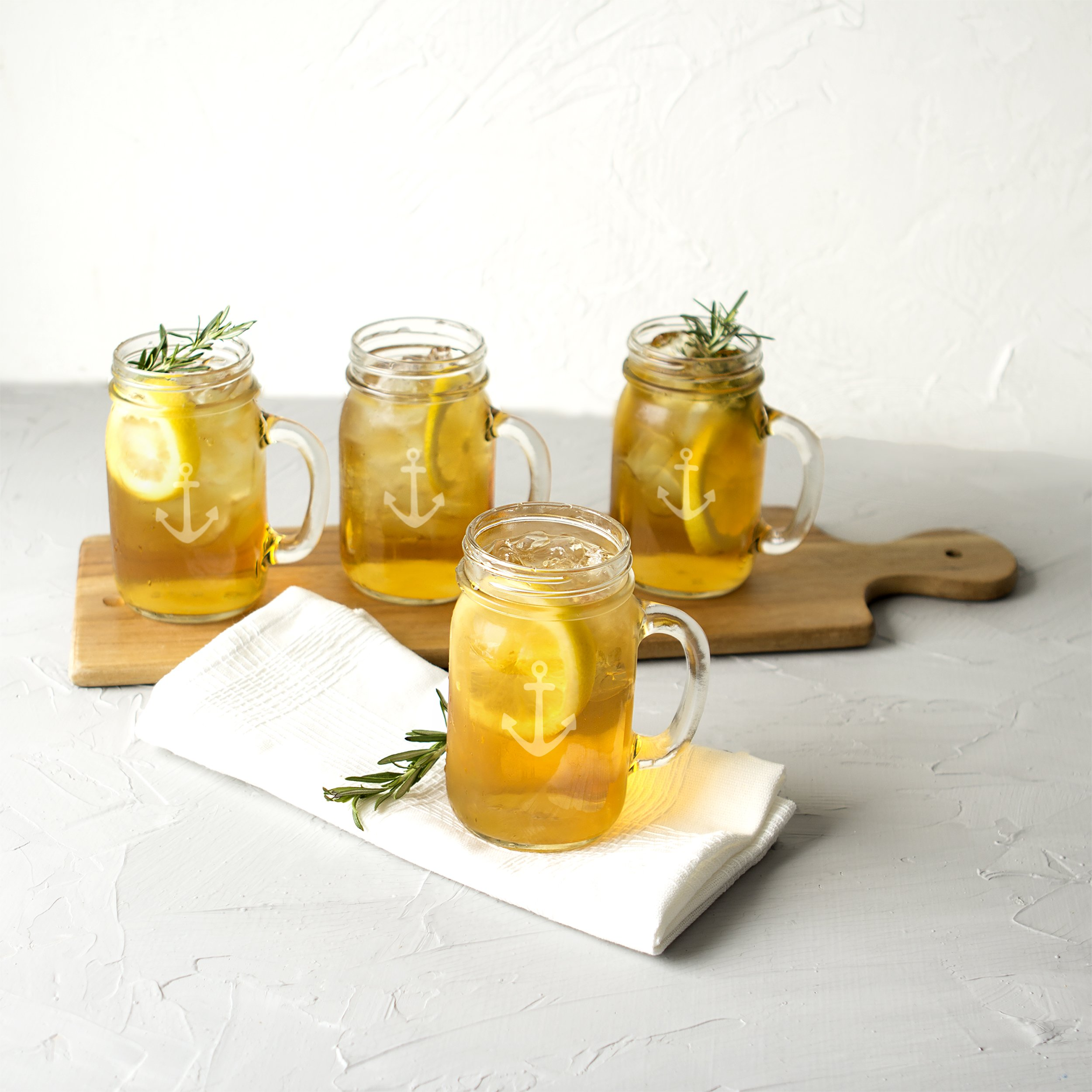 Cathy's Concepts CCA1190 Anchor Old Fashioned Drinking Jars Set Of 4 by Cathy's Concepts (Image #5)