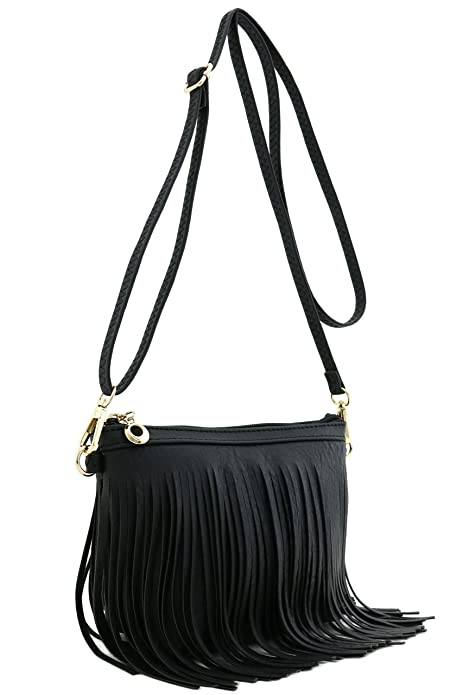 1aacacf461aa Small Fringe Crossbody Bag with Wrist Strap Black  Amazon.ca  Jewelry