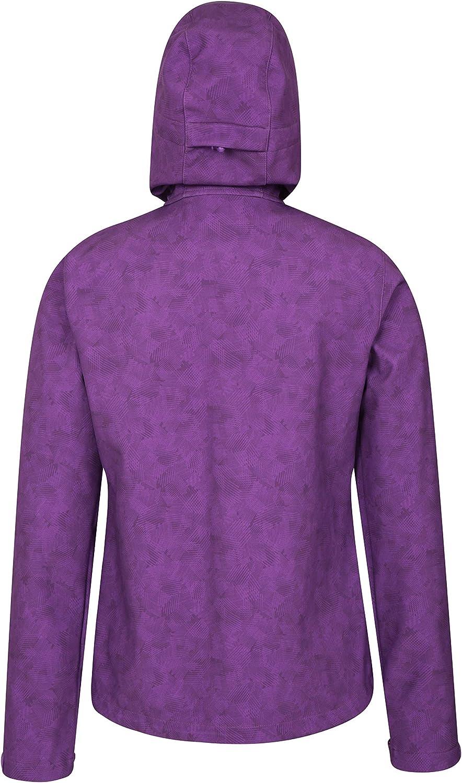 Mountain Warehouse Exodus Womens Printed Softshell Rain Jacket