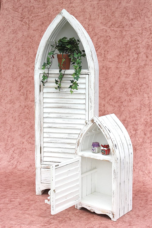DanDiBo Bateau Armoire Kit de 2 120001 Etagère 60 et 123cm Etagère salle de bains Shabby Armoire de salle de bains