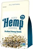 Just Hemp Foods Hulled Hemp Seeds, 1.5lb; Non-GMO Verified with 10g of Protein & Omegas per Serving