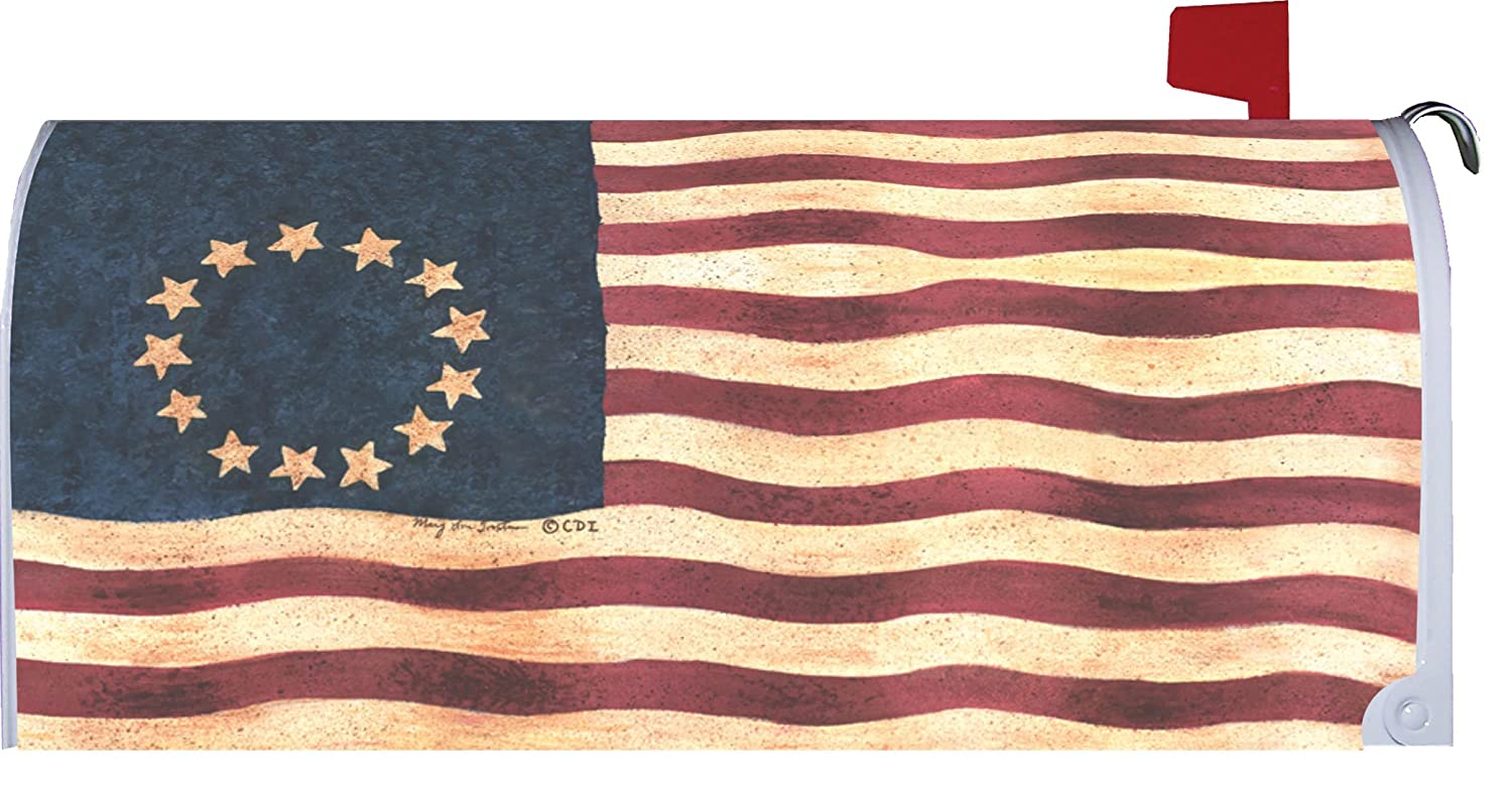 Custom decor usa flag betsy ross version mailbox for Custom decor inc