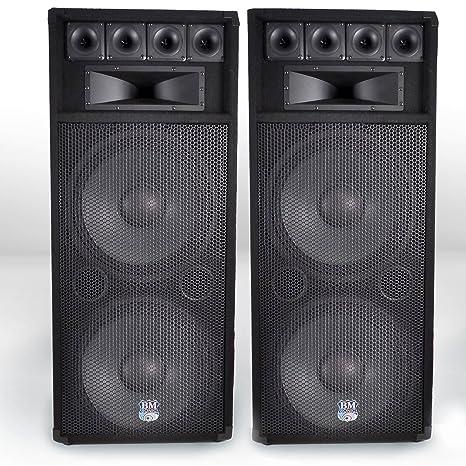 Pack sono DJ completo con amplificador Gemini 4000 W + altavoces BM Sonic 2 x 1000 W + Cable: Amazon.es: Instrumentos musicales