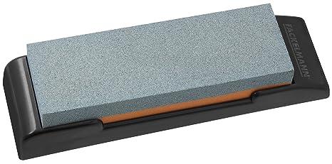 Nirosta FACKELMANN Piedra Afila Cuchillos, Polipropileno, Negro, Gris y marrón, 19x6x3 cm