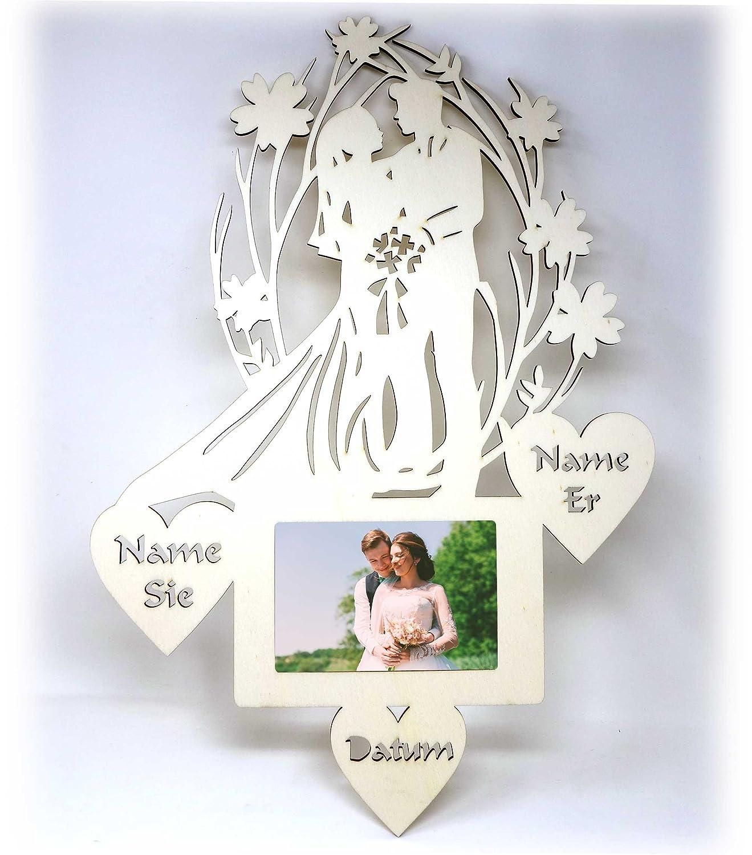 Hochzeitsgeschenke Bilderrahmen mit Namen I Geschenk zur Hochzeit I ...
