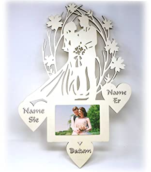 Hochzeitsgeschenke Bilderrahmen Mit Namen I Geschenk Zur Hochzeit I