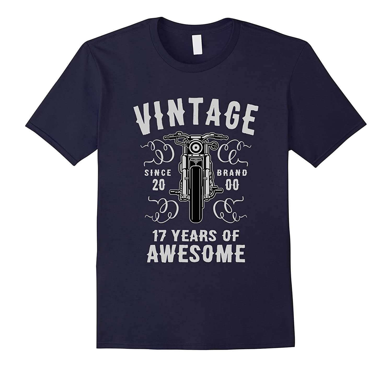 17th Birthday Gift T-Shirt Vintage 2000-TD