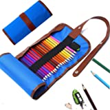 #1 Colored Pencils Set, Premium Color Pencil Drawing Kit With Roll Up Canvas Case For Adults And Kids, (Include Colored pencil and Sharpener)