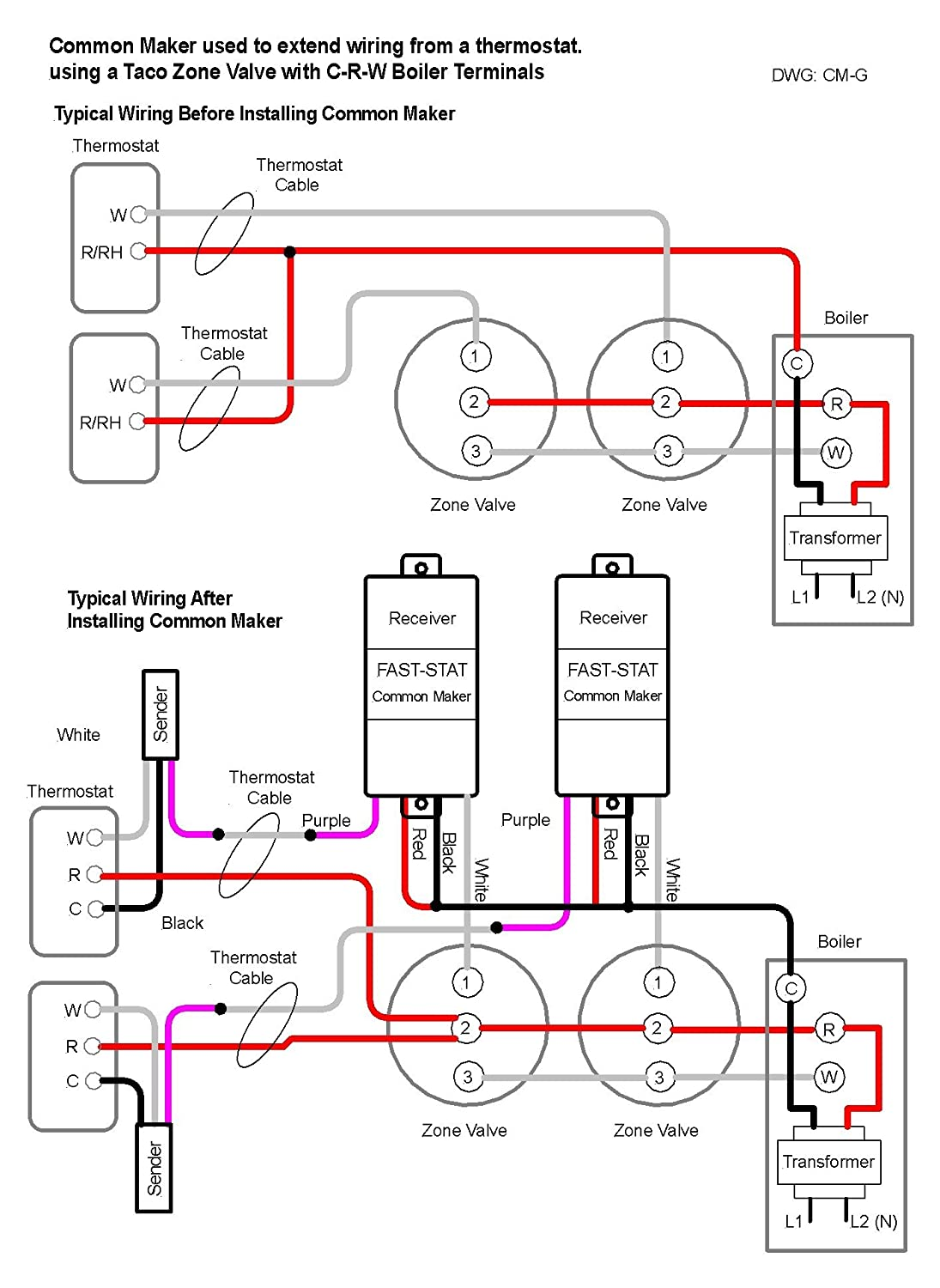Fast Stat Common Maker Wiring Diagram 37 Images Taco Aquastat Control Schematic 890 Woo Sl1500 Thermostat Wire Extender Adds A