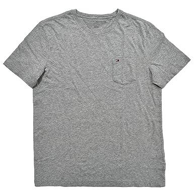9cf2c983 Tommy Hilfiger Mens Crew Neck Pocket T-Shirt (Medium, Grey Heather)