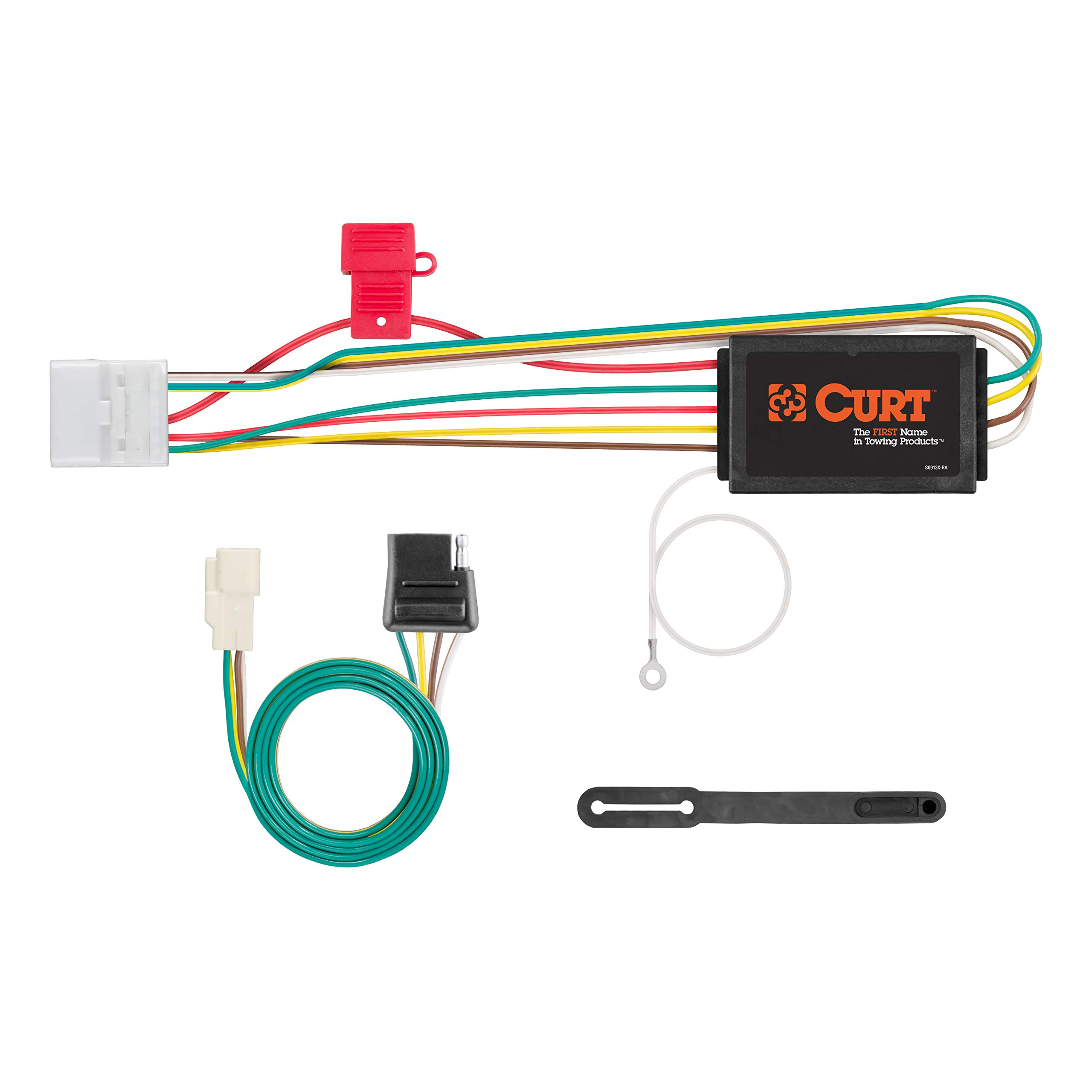 CURT 56217 Vehicle-Side Custom 4-Pin Trailer Wiring Harness for Select Toyota Highlander by CURT
