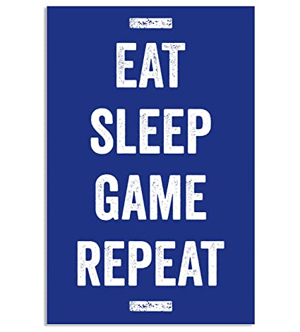 0e10632618f1 Image Unavailable. Image not available for. Color  Damdekoli Eat Sleep Game  Repeat Poster