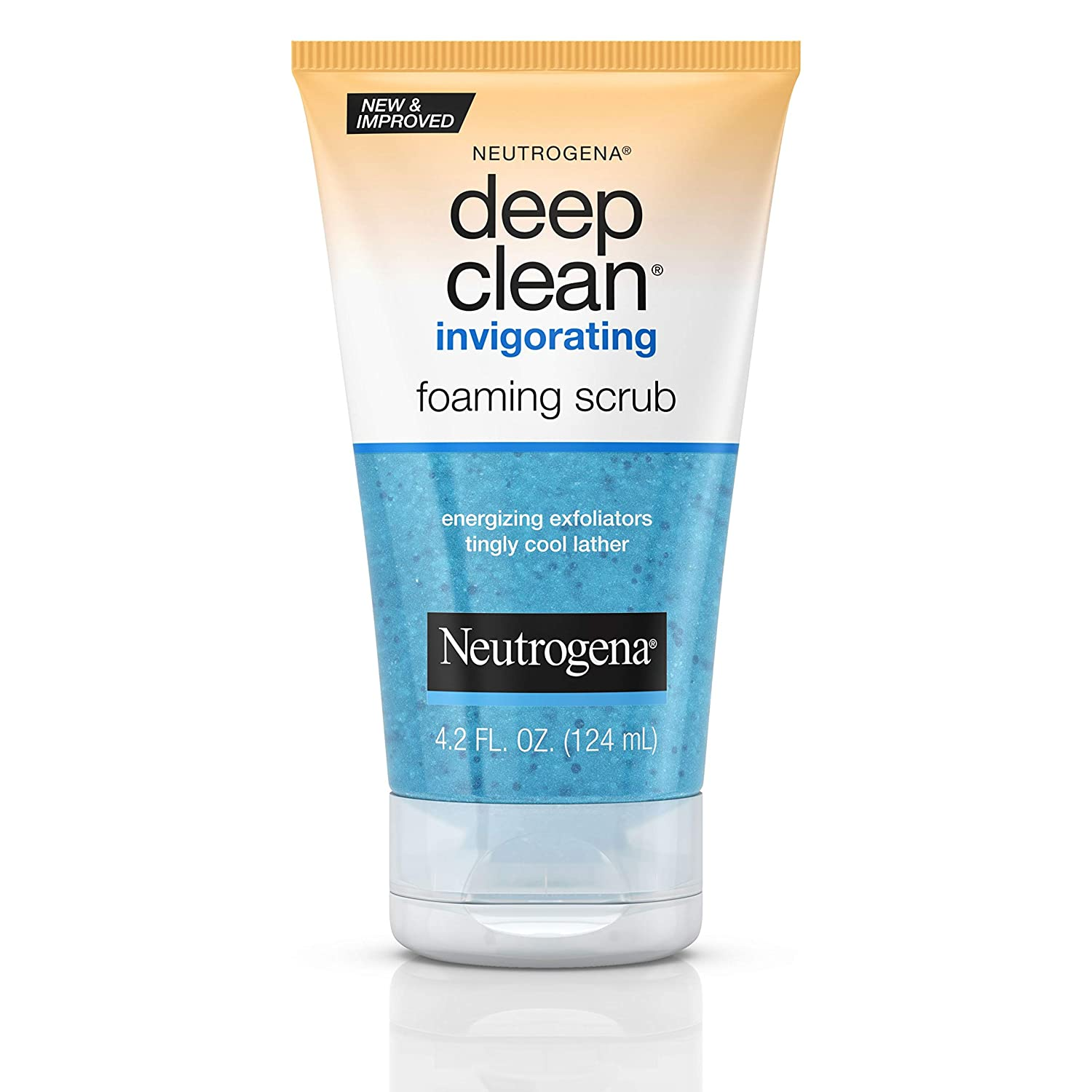 Best Face Scrubs For Acne - Neutrogena Deep Clean Invigorating Foaming Face Scrub with Glycerin, Cooling & Exfoliating Face Wash to Remove Dirt, Oil & Makeup