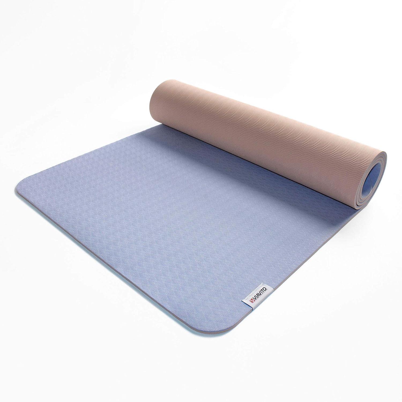 Amazon.com : Viavito Ayama 1/4 Inch TPE Yoga Mat with Carry ...
