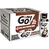 FitPro Go! Real Milk Protein Shake, Chocolate, 14 Ounce (Pack of 12)