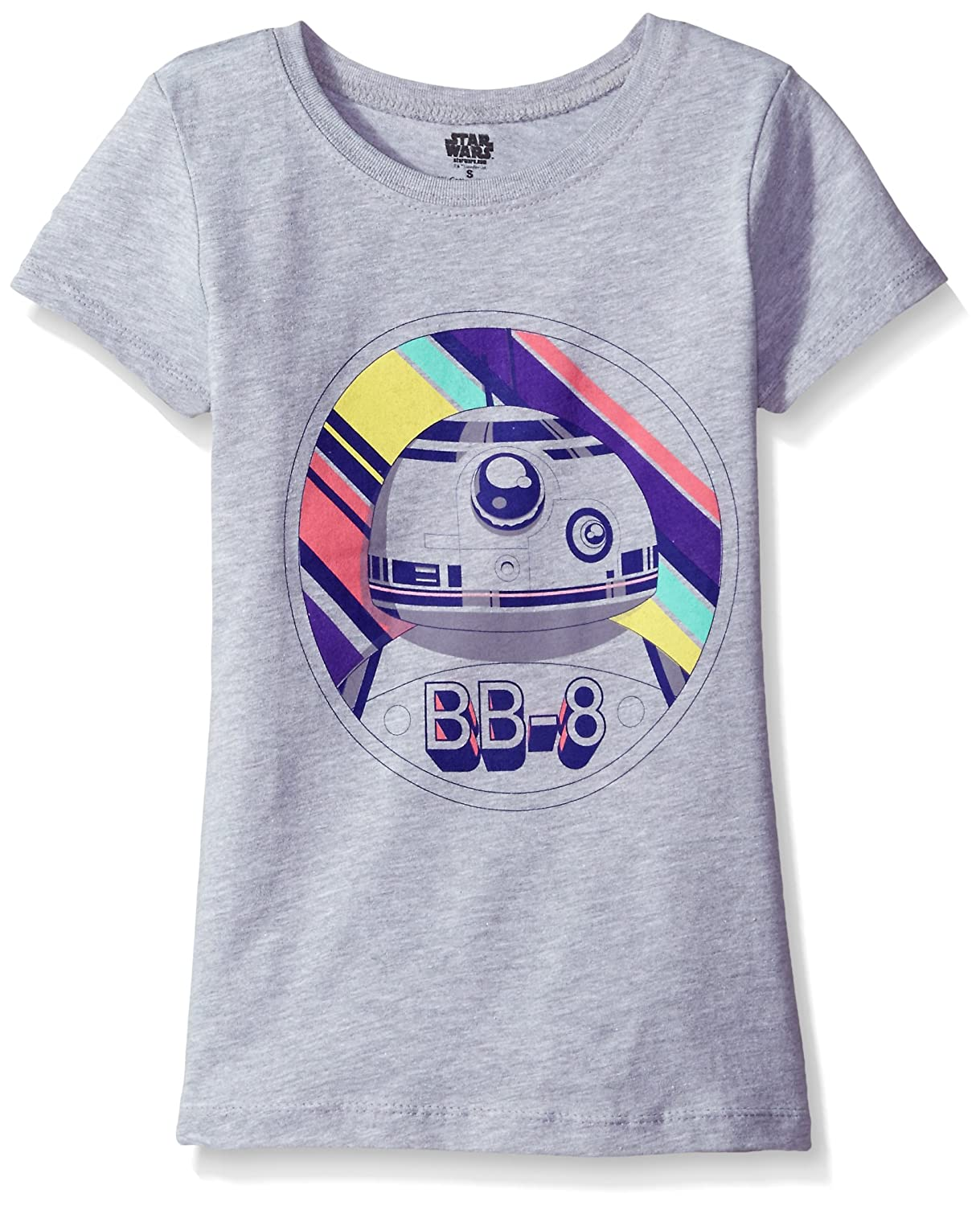 Star Wars Big Girls' The Force Awakens Episode 7 BB-8 Graphic Tee Freeze Children's Apparel GYSS032-3s55