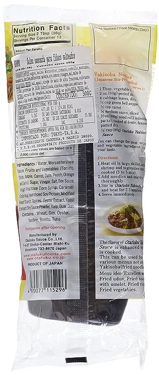 Otafuku Salsa Sazonada para Fideos Yakisoba - 3 Recipientes de 500 ml - Total: 1500 ml: Amazon.es: Alimentación y bebidas