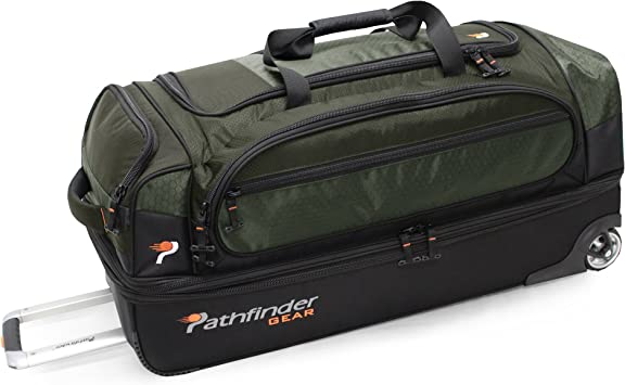 Pathfinder Gear 32 Inch Rolling Drop Bottom Duffel Olive One Size