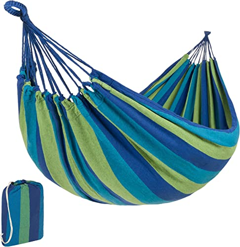 Best Choice Products 2-Person Indoor Outdoor Brazilian-Style Cotton Double Hammock Bed w/Portable Carrying Bag