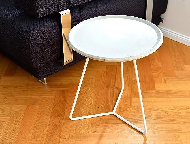 Tisch Beistelltisch Beton Gartentisch Rund Couch Amazon De Handmade