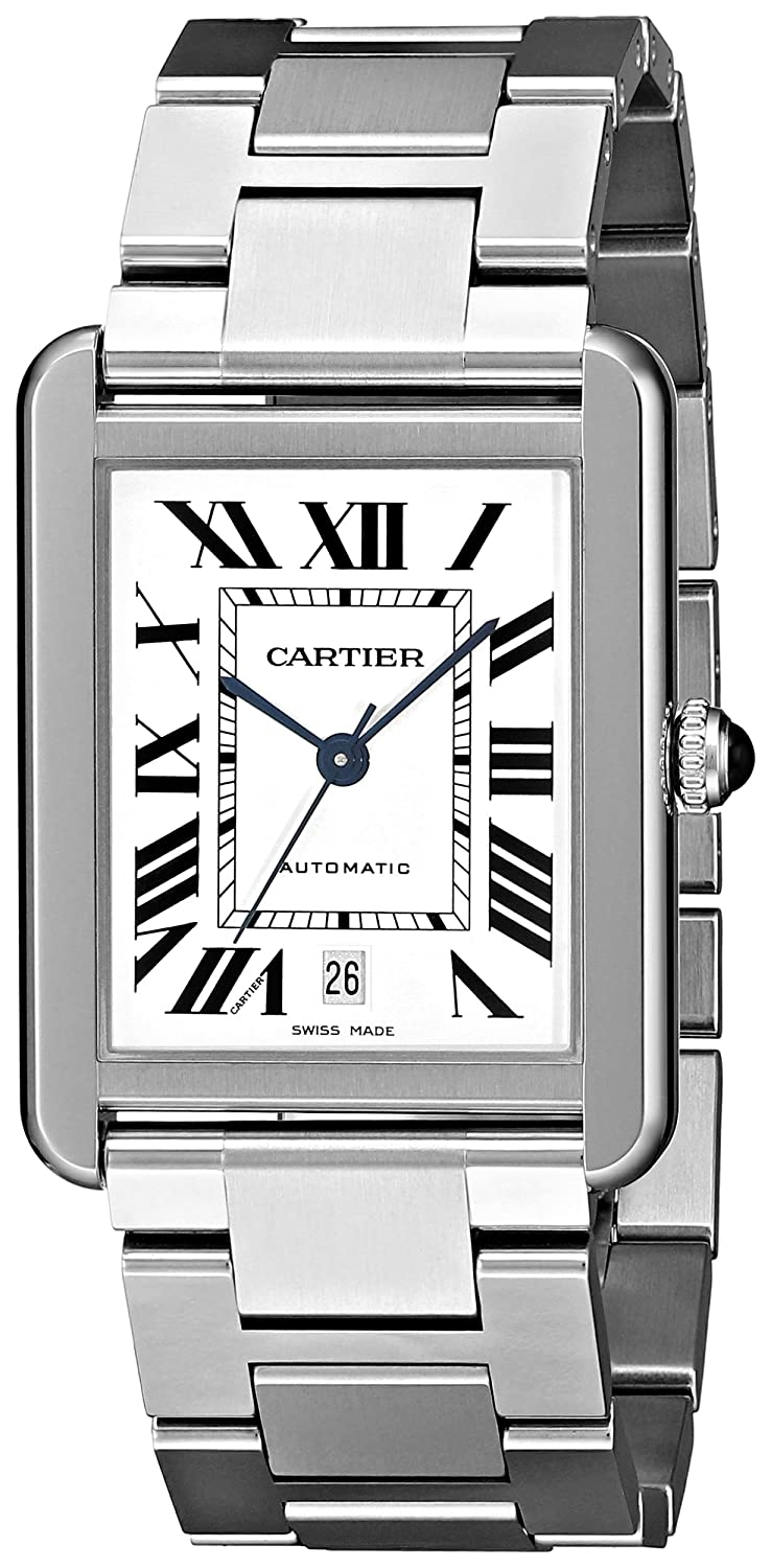 Cartier Men s W5200028 Analog Display Automatic Self Wind Silver Watch